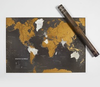 World Map Black Engels