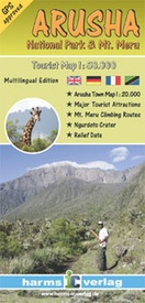 Wandelkaart Arusha National Park & Mt. Meru | Harms IC Verlag