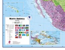 Wandkaart - Magneetbord Noord Amerika - North America Political 120 x 100 cm | Maps International Wandkaart Noord Amerika, politiek, 100 x 120 cm | Maps International