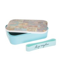 Lunchbox Vintage Map Collage Bamboo Lunch Box