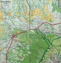 Wandelkaart Trekking map Africa - the highest peaks | TerraQuest