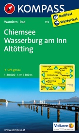 Wandelkaart 159 Chiemsee - Wasserburg am Inn - Altötting | Kompass