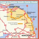 Fietskaart NSCR Coast & Castles Cycle Route (Newcastle - Edinburgh) - NNC - south sea cycle route | Sustrans