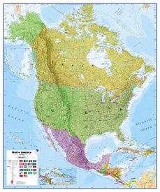 Wandkaart - Magneetbord Noord Amerika - North America Political 120 x 100 cm | Maps International