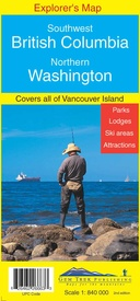 Wegenkaart - landkaart 04 Southwest British Columbia & Northern Washington | Gem Trek Maps