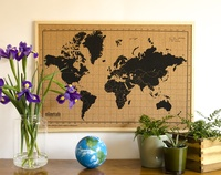 World Map Corkboard 70 x 50 cm