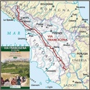Wandelkaart Via Francigena in Toscana | Global Map