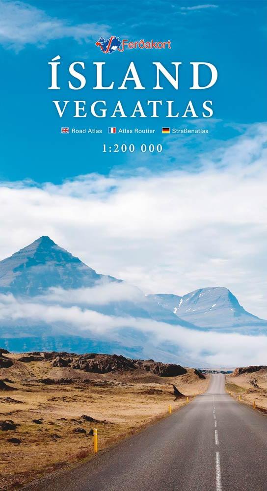Wegenatlas - landkaart IJsland 1: 200.000   Ferdakort