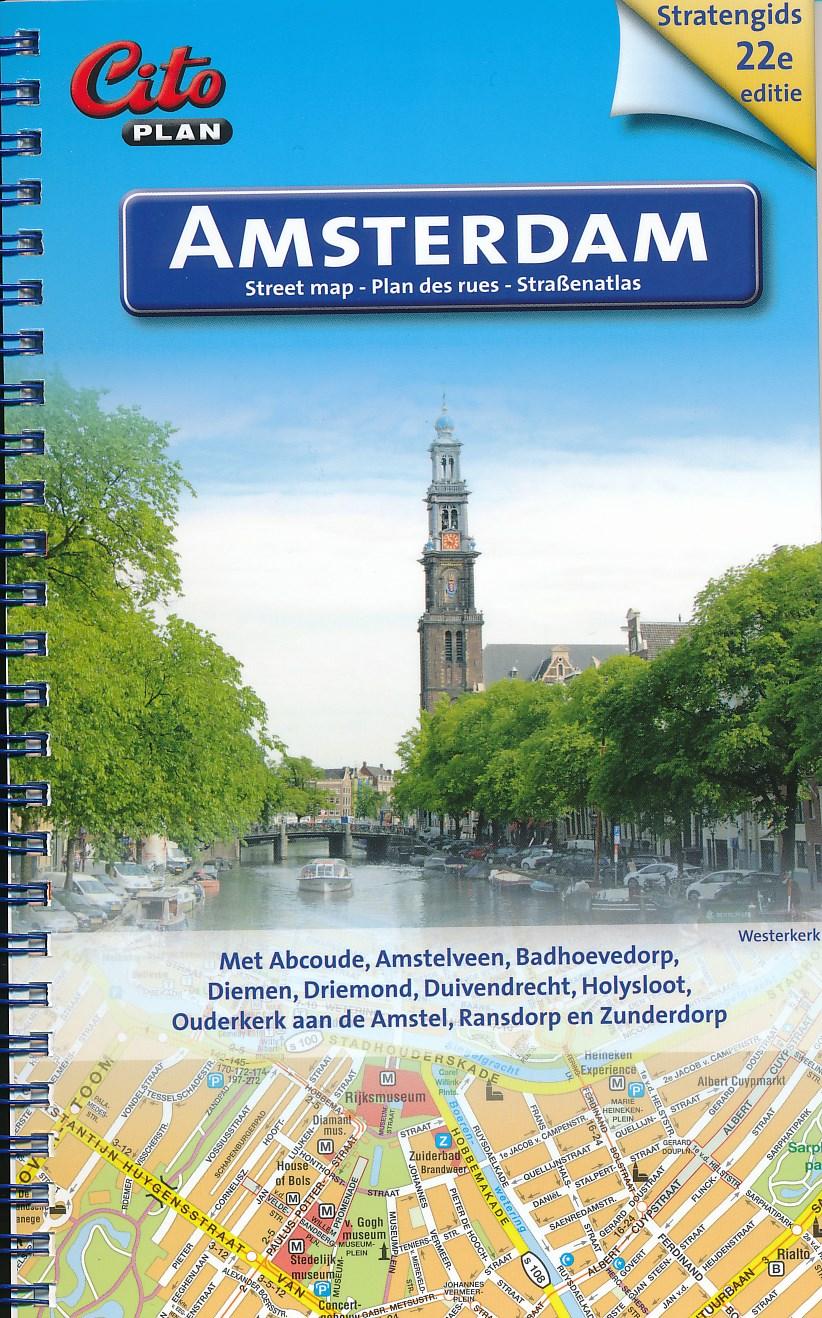 Stadsplattegrond - stratenatlas Amsterdam stratengids  spiraal   Citoplan