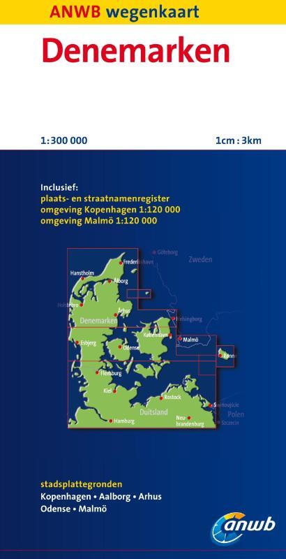 Wegenkaart - Autokaart - Landkaart Denemarken   ANWB
