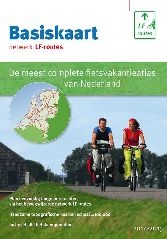 Fietskaart Basiskaart netwerk LF-routes gids + map van 20 kaarten 2015   Buijten en Schipperheijn   Landelijk Fietsplatform