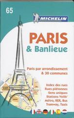Stadsplattegrond - Stratengids Paris & Banlieue 65    Michelin
