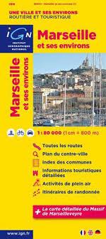 Stadsplattegrond - landkaart Marseille   IGN