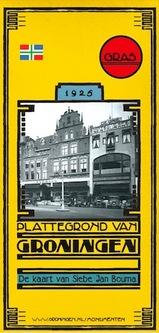 Plattegrond van Groningen - De kaart van Siebe Jan Bouma 1925   Platform Gras