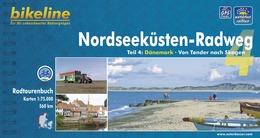 Fietsgids Nordseekusten radweg 4 (NSCR) teil 4 Danmark - Denemarken NSCR   Bikeline