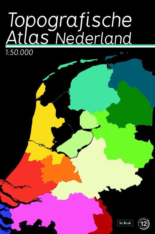 Atlas - Topografische Atlas Nederland (1:50.000)   12 Provinci�n