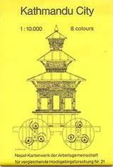 Plattegrond stadsplattegrond Kathmandu City   Schneider
