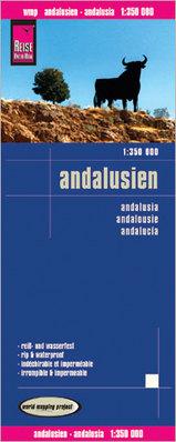 Landkaart wegenkaart Andalusie -Andalusië   Reise Know How