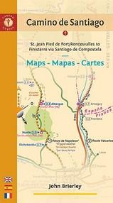 Wandelgids met kaarten Camino de Santiago   John Brierly   John Brierley