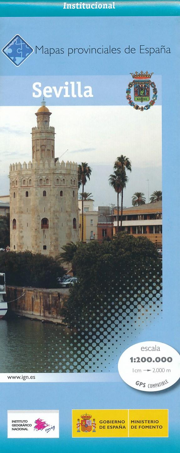 Wegenkaart - landkaart Sevilla Provinciekaart   IGN Spanje