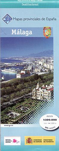 Wegenkaart - landkaart Malaga Provinciekaart   IGN Spanje