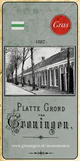Stadsplattegrond Groningen uit 1887   GRAS