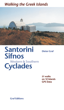 Wandelgids Santorini, Sifnos & western and southern Cyckades   Dieter Graf ed.Walking the Greek Islands   Dieter Graf