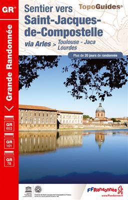 Wandelgids ref 6534 Sentier vers Saint-Jacques-de-Compostelle : Toulouse - Jaca GR653 - GR101 - GR78   FFRP 6534
