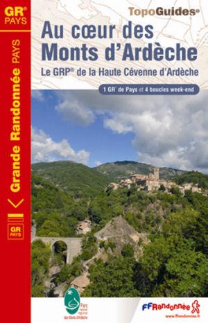Wandelgids ref 702 Au coeur des Monts d'Ardèche   FFRP