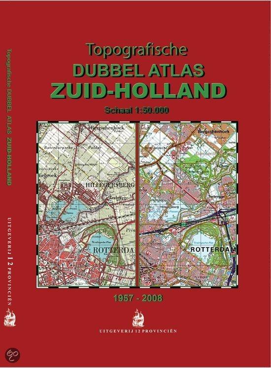 Topografische Dubbelatlas Zuid-Holland   12 provincien