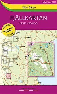 Wandelkaart W54 Salen   Lantmateriet