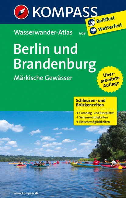Vaargids - Wateratlas Berlijn 609 Wasserwanderatlas Berliner und M�rkische Gew�sser - Brandenburg   Kompass