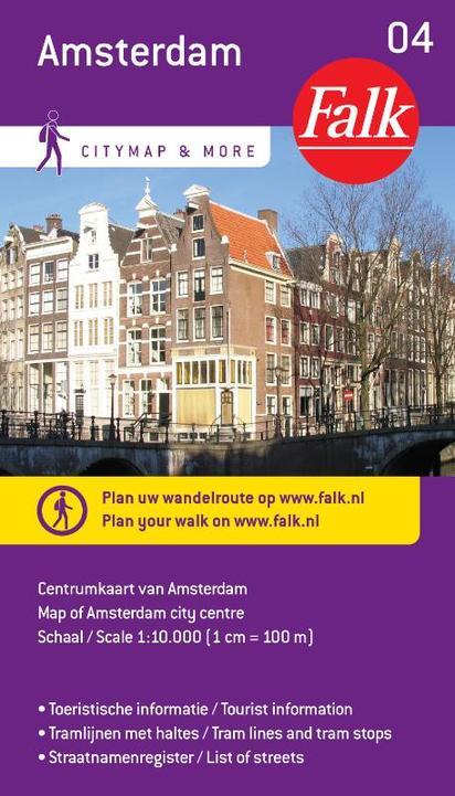 Stadsplattegrond 04 centrum Amsterdam   Falk