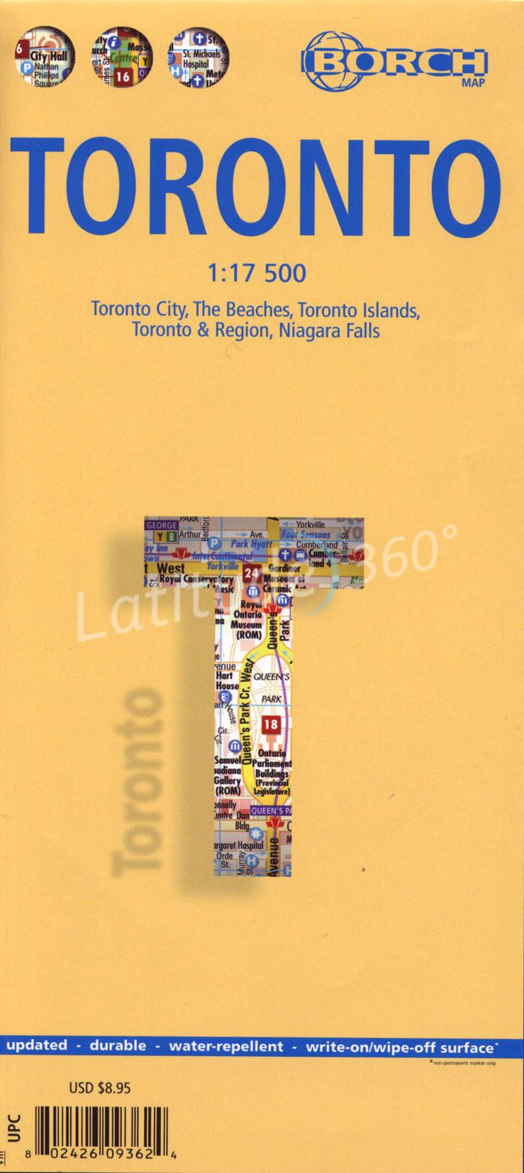Stadsplattegrond Toronto   Borch Maps
