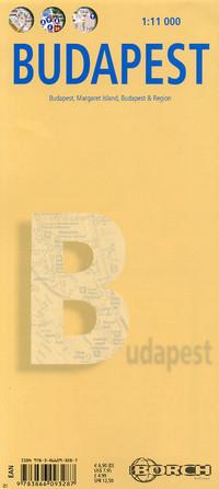 Stadsplattegrond Budapest - Boedapest   Borch Maps