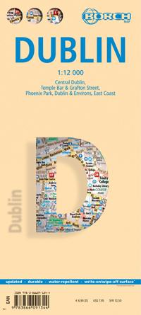 Stadsplattegrond Dublin   Borch Maps