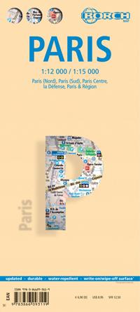 Stadsplattegrond Parijs - Paris   Borch maps