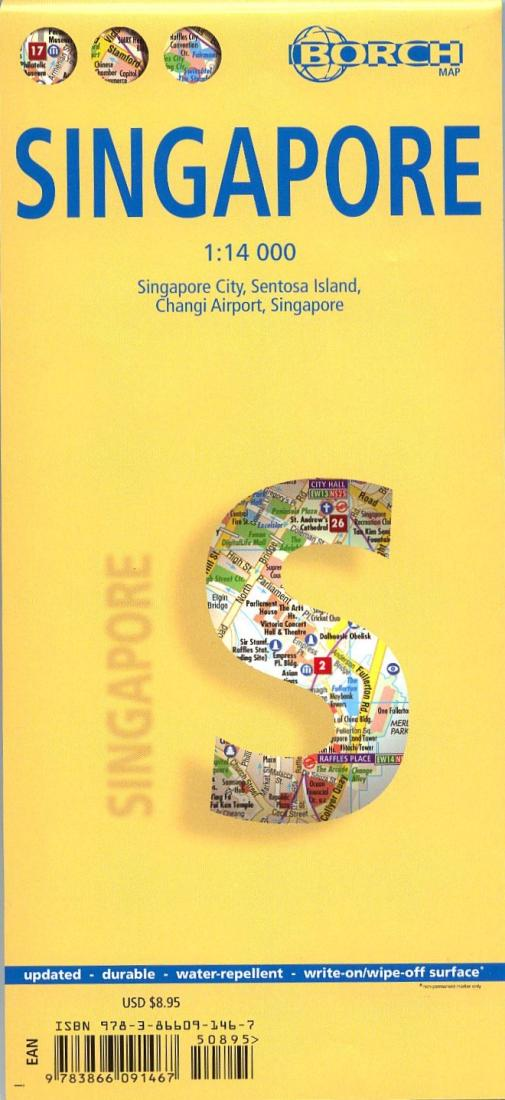 Stadsplattegrond Singapore   Borch Maps