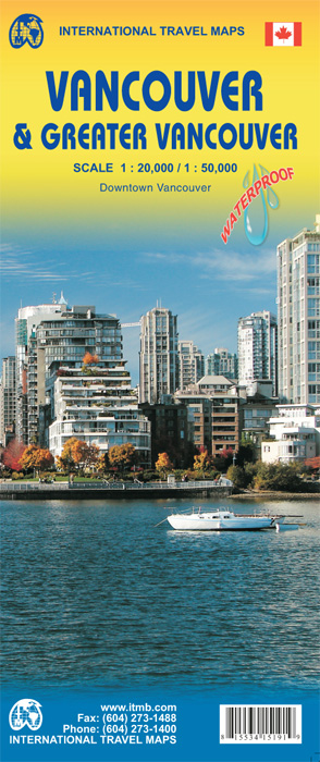 Stadsplattegrond Vancouver & Greater Vancouver   ITMB
