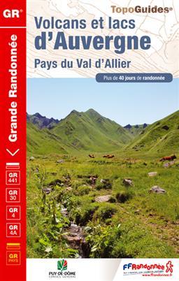 Wandelgids ref 304 Volcans et lacs d'Auvergne   FFRP
