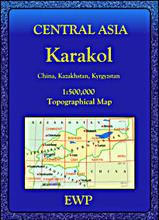 Wegenkaart - Autokaart - Landkaart Karakol ( China, Kazakhstan, Kyrgyzgstan )    EWP