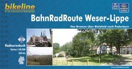 Fietsgids BahnRadRoute Weser-Lippe von Bremen �ber Bielefeld nach Paderborn   Bikeline - Esterbauer