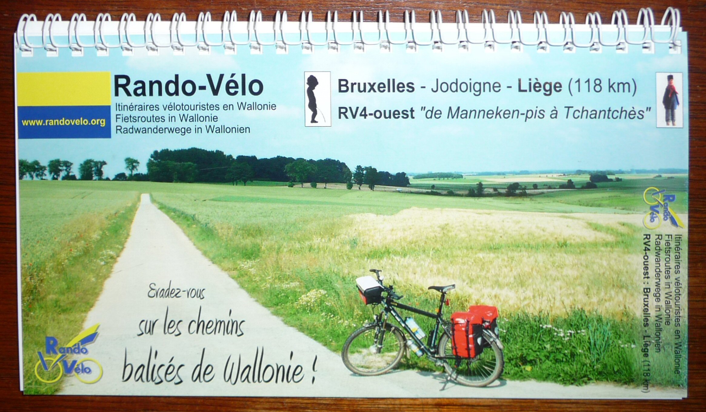 Fietsgids Rando-Velo RV 4 Brussel - Luik   Randovelo