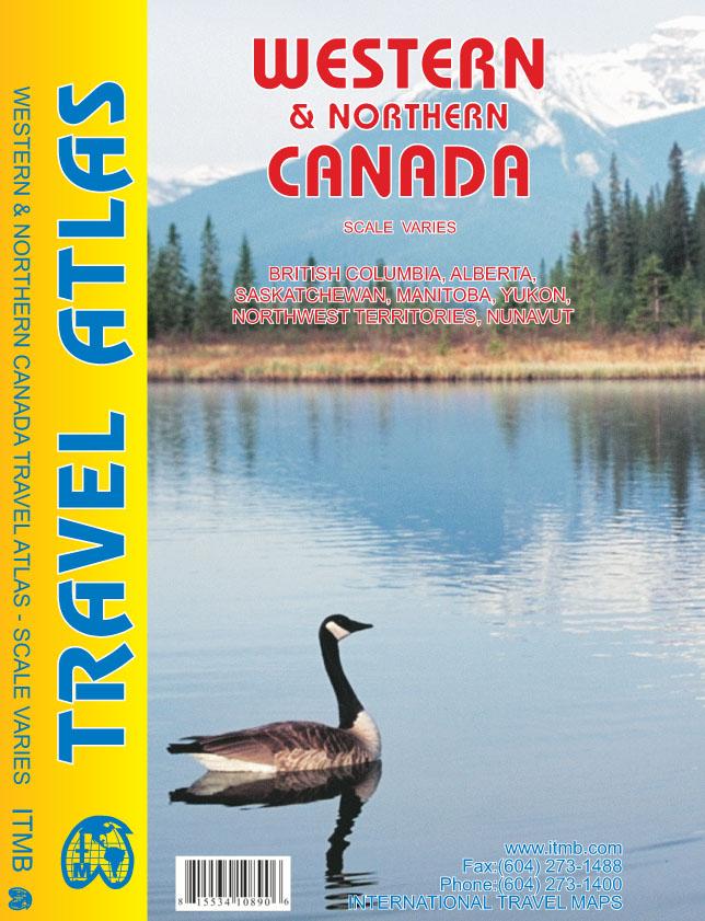 Wegenatlas Western & Northern Canada - West en Noord Canada   ITMB