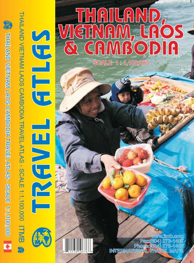Wegenatlas Thailand, Vietnam, Laos & Cambodia   ITMB
