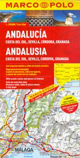 Landkaart - wegenkaart Andalusien- Costa del Sol - Seville - Cordoba - Granada  (Andalusië)   Marco Polo