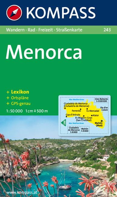 Wandelkaart 243 Menorca   Kompass