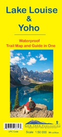 Wandelkaart Lake Louise & Yoho   Gem Trek (geplastificeerd)