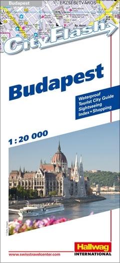 Hallwag Cityflash stadsplattegrond Budapest - Boedapest