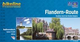 Fietsgids Flandern-Route (vlaanderen route)   Bikeline Esterbauer - duitstalig   Birgit Albrecht